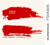 vector set of red brush strokes.... | Shutterstock .eps vector #772252633