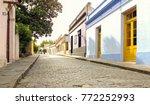 beautiful antique street in...   Shutterstock . vector #772252993