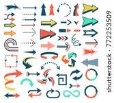 arrow icons vector set... | Shutterstock .eps vector #772253509