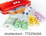 euro money. euro cash... | Shutterstock . vector #772256260