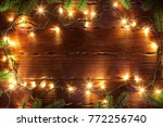 christmas bokeh background... | Shutterstock . vector #772256740