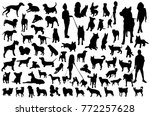 set of dog silhouettes | Shutterstock .eps vector #772257628