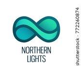 northern lights  vector logo... | Shutterstock .eps vector #772260874