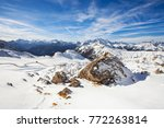 snow covered pass in the... | Shutterstock . vector #772263814