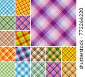 set of seamless plaid patterns | Shutterstock .eps vector #772266220