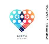 cinema festival vector logo ... | Shutterstock .eps vector #772268938