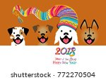vector illustration with four... | Shutterstock .eps vector #772270504