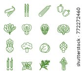 green vegetables collection ... | Shutterstock .eps vector #772272460