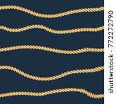 rope line seamless pattern....   Shutterstock .eps vector #772272790