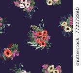seamless gorgeous bright... | Shutterstock . vector #772273360