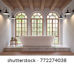 scandinavian bathroom 3d... | Shutterstock . vector #772274038