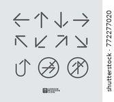 arrow icon modern flat style... | Shutterstock .eps vector #772277020