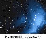 deep space star field. universe ...   Shutterstock . vector #772281349