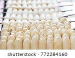 prepared of grill banana  thai... | Shutterstock . vector #772284160