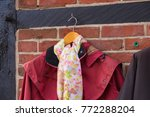 old fashioned female coat with... | Shutterstock . vector #772288204