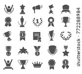 awards and prizes simple icons... | Shutterstock .eps vector #772288984