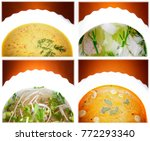 hot asian soup studio quality | Shutterstock . vector #772293340
