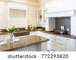 modern  bright  clean kitchen... | Shutterstock . vector #772293820
