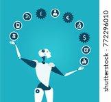 robot rolling communication... | Shutterstock .eps vector #772296010