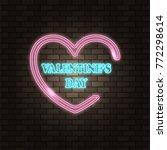 neon happy valentine's day...   Shutterstock .eps vector #772298614
