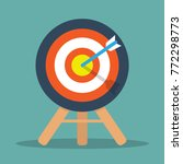 target on wooden tripod with... | Shutterstock .eps vector #772298773