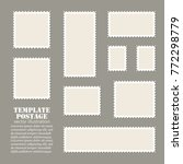 empty template blank white... | Shutterstock .eps vector #772298779