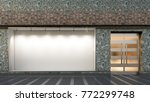 empty store window and entrance.... | Shutterstock . vector #772299748