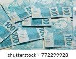 money from brazil. notes of... | Shutterstock . vector #772299928