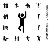 man with raised arms icon. set... | Shutterstock .eps vector #772300009