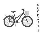 lady city bike silhouette.... | Shutterstock .eps vector #772300390