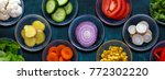 close up of a various sliced... | Shutterstock . vector #772302220