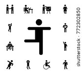 dancing silhouette man icon.... | Shutterstock .eps vector #772302850