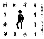 man standing silhouette icon.... | Shutterstock .eps vector #772302856
