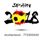 abstract number 2018 and soccer ... | Shutterstock .eps vector #772303420