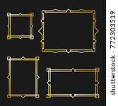 set of arabic frame | Shutterstock .eps vector #772303519