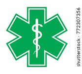 the star of life  with the... | Shutterstock .eps vector #772307356