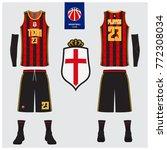 basketball uniform  shorts ... | Shutterstock .eps vector #772308034