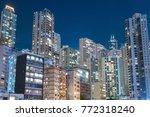 high rise residential building... | Shutterstock . vector #772318240