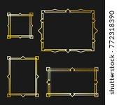 set of arabic frame | Shutterstock . vector #772318390
