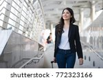 young elegant business woman... | Shutterstock . vector #772323166