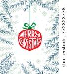 merry christmas text.... | Shutterstock .eps vector #772323778