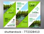 business brochure. flyer design.... | Shutterstock .eps vector #772328413