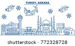 turkey  ankara winter city... | Shutterstock .eps vector #772328728