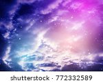 space of night purple sky with...   Shutterstock . vector #772332589