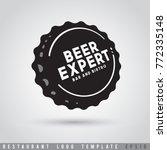 restaurant logo template  ... | Shutterstock .eps vector #772335148