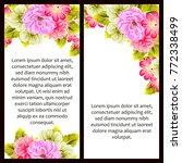 vintage delicate invitation...   Shutterstock .eps vector #772338499