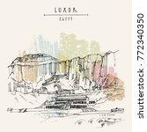 luxor  egypt. temple of... | Shutterstock .eps vector #772340350