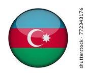 azerbaijan flag in glossy round ... | Shutterstock .eps vector #772343176