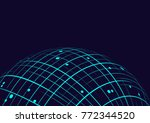 point and line composed world ... | Shutterstock .eps vector #772344520