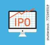 initial public offering concept.... | Shutterstock .eps vector #772345519
